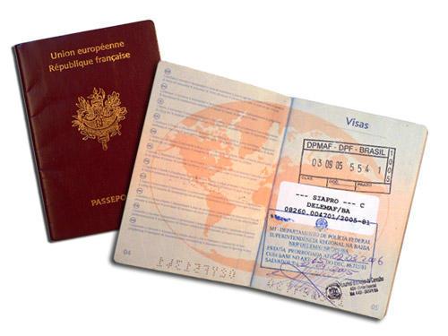 Pasaporte y visa para viajar a Francia